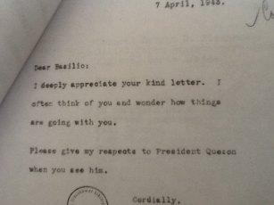 Eisenhower letter
